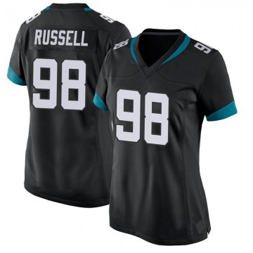 Women's Nike Jacksonville Jaguars Dontavius Russell Black Jersey - Game