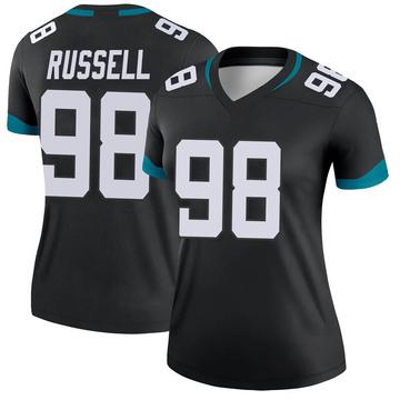 Women's Nike Jacksonville Jaguars Dontavius Russell Black Jersey - Legend