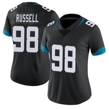 Women's Nike Jacksonville Jaguars Dontavius Russell Black Vapor Untouchable Jersey - Limited