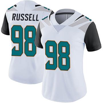 Women's Nike Jacksonville Jaguars Dontavius Russell White Vapor Untouchable Jersey - Limited