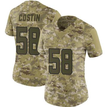 Women's Nike Jacksonville Jaguars Doug Costin Camo 2018 Salute to Service Jersey - Limited