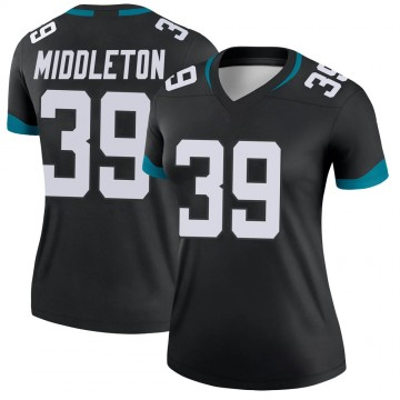 Women's Nike Jacksonville Jaguars Doug Middleton Black Jersey - Legend