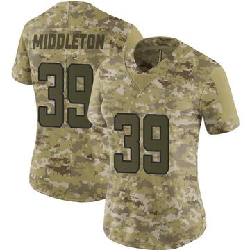 Women's Nike Jacksonville Jaguars Doug Middleton Camo 2018 Salute to Service Jersey - Limited