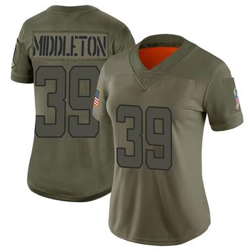 Women's Nike Jacksonville Jaguars Doug Middleton Camo 2019 Salute to Service Jersey - Limited