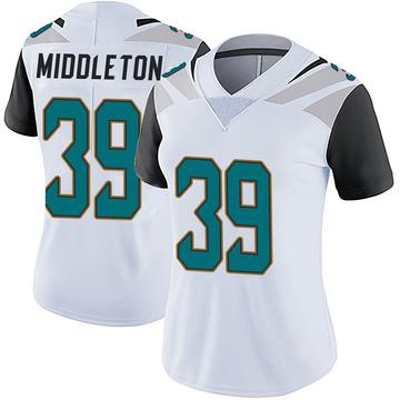 Women's Nike Jacksonville Jaguars Doug Middleton White Vapor Untouchable Jersey - Limited
