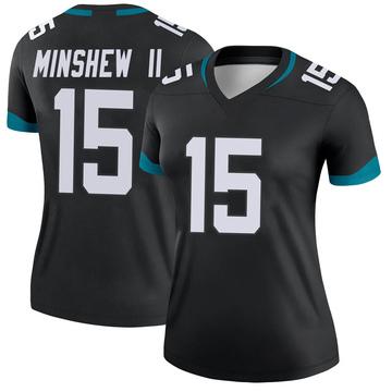 Women's Nike Jacksonville Jaguars Gardner Minshew Black Jersey - Legend