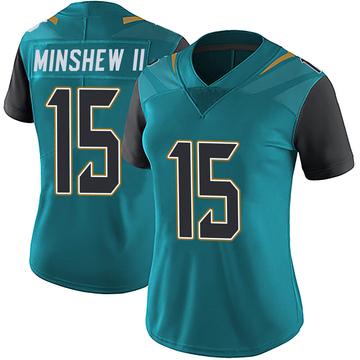 Women's Nike Jacksonville Jaguars Gardner Minshew Teal Vapor Untouchable Team Color Jersey - Limited