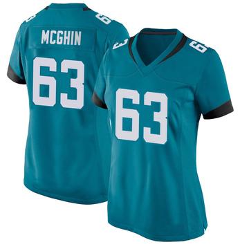 Women's Nike Jacksonville Jaguars Garrett McGhin Teal Jersey - Game