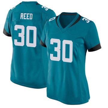 Women's Nike Jacksonville Jaguars J.R. Reed Teal Jersey - Game