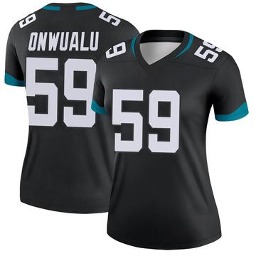 Women's Nike Jacksonville Jaguars James Onwualu Black Jersey - Legend