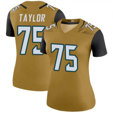 Women's Nike Jacksonville Jaguars Jawaan Taylor Gold Color Rush Bold Jersey - Legend