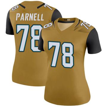Women's Nike Jacksonville Jaguars Jermey Parnell Gold Color Rush Bold Jersey - Legend
