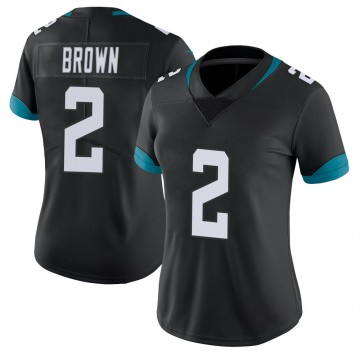 Women's Nike Jacksonville Jaguars Jonathan Brown Black 100th Vapor Untouchable Jersey - Limited