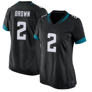 Women's Nike Jacksonville Jaguars Jonathan Brown Black Jersey - Game