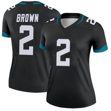 Women's Nike Jacksonville Jaguars Jonathan Brown Black Jersey - Legend