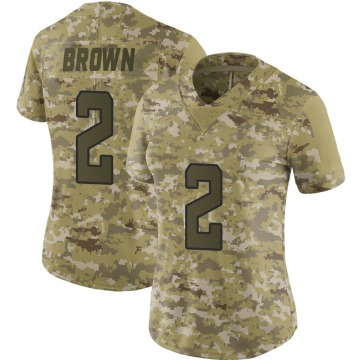 Women's Nike Jacksonville Jaguars Jonathan Brown Brown Camo 2018 Salute to Service Jersey - Limited