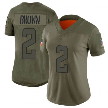 Women's Nike Jacksonville Jaguars Jonathan Brown Brown Camo 2019 Salute to Service Jersey - Limited