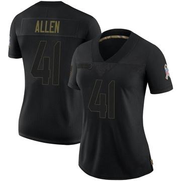 Women's Nike Jacksonville Jaguars Josh Allen Black 2020 Salute To Service Jersey - Limited