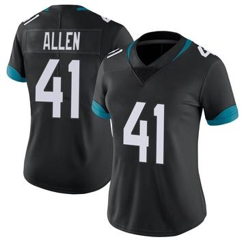 Women's Nike Jacksonville Jaguars Josh Allen Black Vapor Untouchable Jersey - Limited