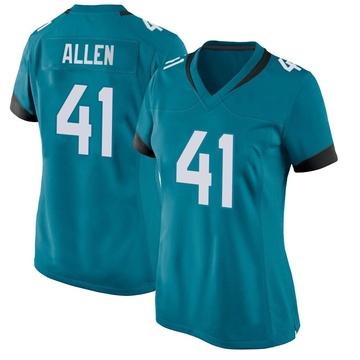 Women's Nike Jacksonville Jaguars Josh Allen Teal Jersey - Game