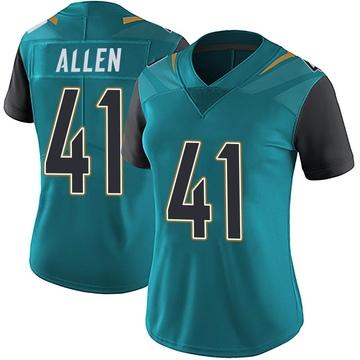 Women's Nike Jacksonville Jaguars Josh Allen Teal Vapor Untouchable Team Color Jersey - Limited