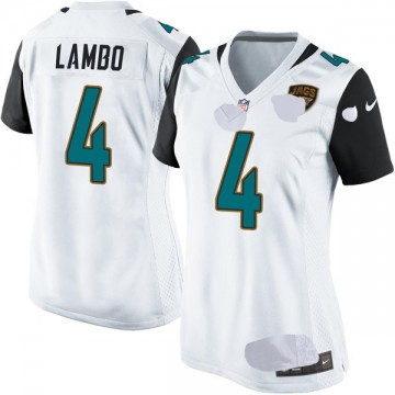 Women's Nike Jacksonville Jaguars Josh Lambo White Jersey - Game