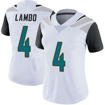 Women's Nike Jacksonville Jaguars Josh Lambo White Vapor Untouchable Jersey - Limited