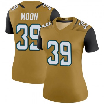 Women's Nike Jacksonville Jaguars Joshua Moon Gold Color Rush Bold Jersey - Legend