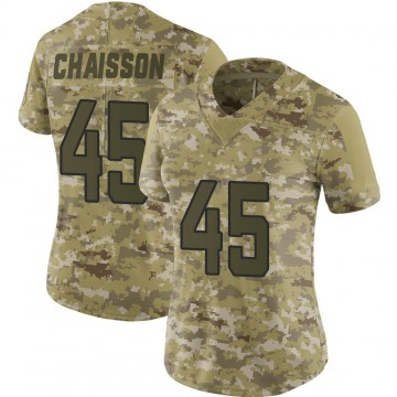 Women's Nike Jacksonville Jaguars K'Lavon Chaisson Camo 2018 Salute to Service Jersey - Limited