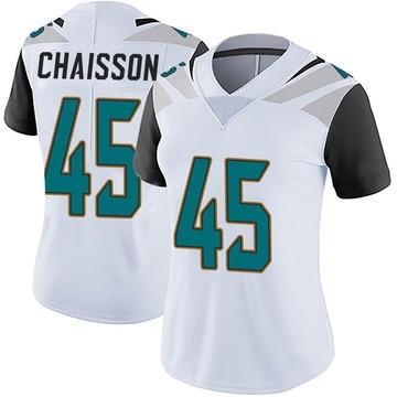 Women's Nike Jacksonville Jaguars K'Lavon Chaisson White Vapor Untouchable Jersey - Limited