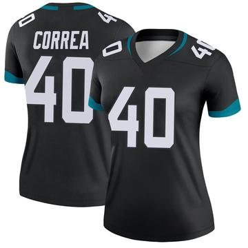 Women's Nike Jacksonville Jaguars Kamalei Correa Black Jersey - Legend