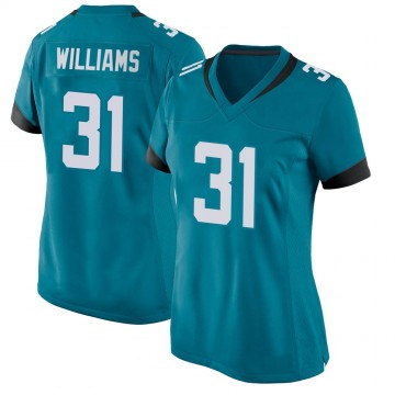 Women's Nike Jacksonville Jaguars Kobe Williams Teal Jersey - Game