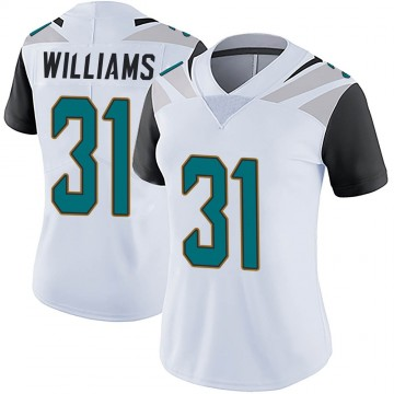 Women's Nike Jacksonville Jaguars Kobe Williams White Vapor Untouchable Jersey - Limited