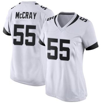 Women's Nike Jacksonville Jaguars Lerentee McCray White Jersey - Game