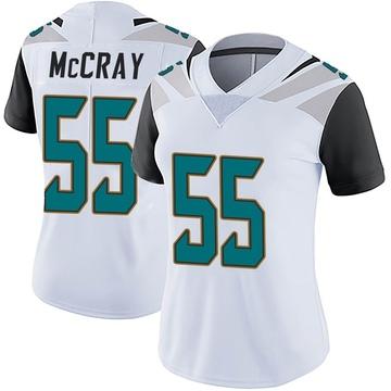 Women's Nike Jacksonville Jaguars Lerentee McCray White Vapor Untouchable Jersey - Limited