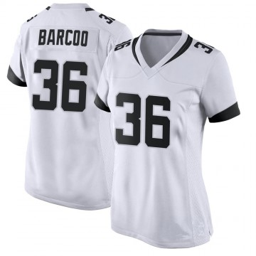 Women's Nike Jacksonville Jaguars Luq Barcoo White Jersey - Game