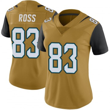 Women's Nike Jacksonville Jaguars Marvelle Ross Gold Color Rush Vapor Untouchable Jersey - Limited