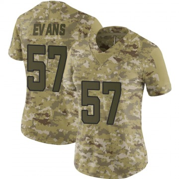 Women's Nike Jacksonville Jaguars Nate Evans Camo 2018 Salute to Service Jersey - Limited