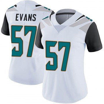 Women's Nike Jacksonville Jaguars Nate Evans White Vapor Untouchable Jersey - Limited