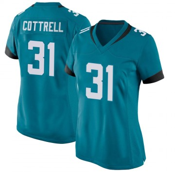 Women's Nike Jacksonville Jaguars Nathan Cottrell Teal Jersey - Game