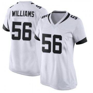 Women's Nike Jacksonville Jaguars Quincy Williams White Jersey - Game