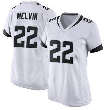 Women's Nike Jacksonville Jaguars Rashaan Melvin White Jersey - Game