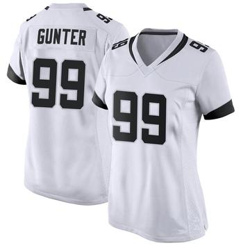 Women's Nike Jacksonville Jaguars Rodney Gunter White Jersey - Game