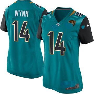 Women's Nike Jacksonville Jaguars Shane Wynn Teal Team Color Jersey - Game
