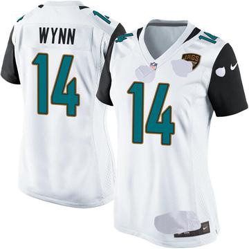 Women's Nike Jacksonville Jaguars Shane Wynn White Jersey - Game