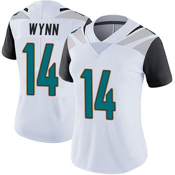 Women's Nike Jacksonville Jaguars Shane Wynn White Vapor Untouchable Jersey - Limited
