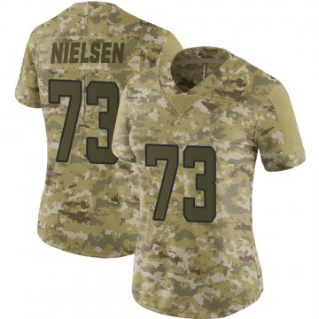 Women's Nike Jacksonville Jaguars Steven Nielsen Camo 2018 Salute to Service Jersey - Limited