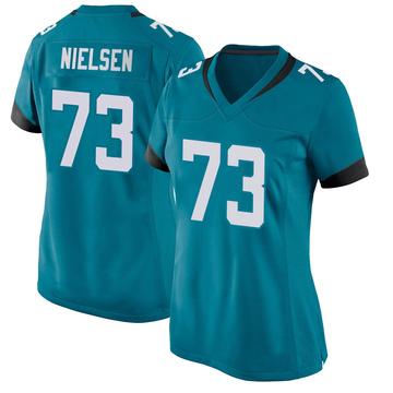 Women's Nike Jacksonville Jaguars Steven Nielsen Teal Jersey - Game