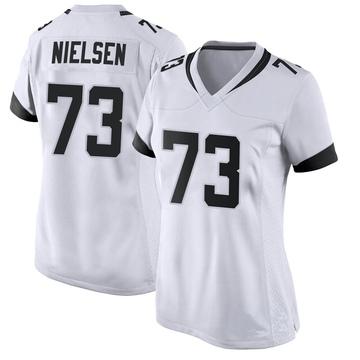 Women's Nike Jacksonville Jaguars Steven Nielsen White Jersey - Game