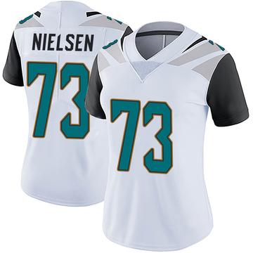 Women's Nike Jacksonville Jaguars Steven Nielsen White Vapor Untouchable Jersey - Limited